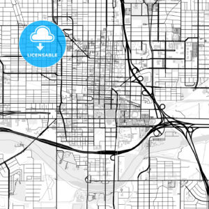 Inner city vector map of Oklahoma City - HEBSTREITS