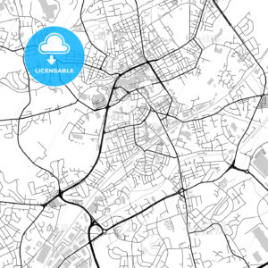Inner city vector map of Rochdale - HEBSTREITS
