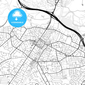 Inner city vector map of Sale - HEBSTREITS