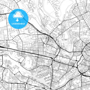 Inner city vector map of Salford - HEBSTREITS
