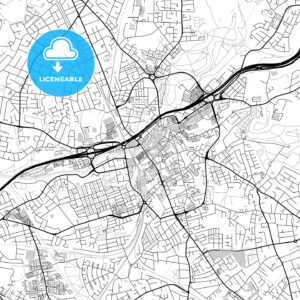 Inner city vector map of Stockport - HEBSTREITS