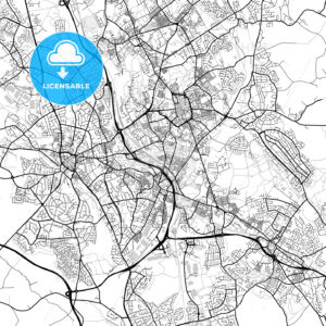 Inner city vector map of Stoke-on-Trent - HEBSTREITS