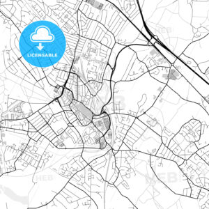 Inner city vector map of Watford - HEBSTREITS