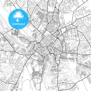 Inner city vector map of York - HEBSTREITS