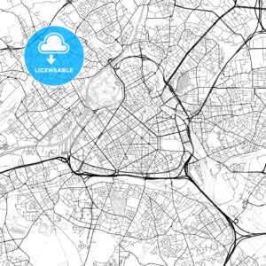 Lille, Nord, Downtown Vector Map - HEBSTREITS