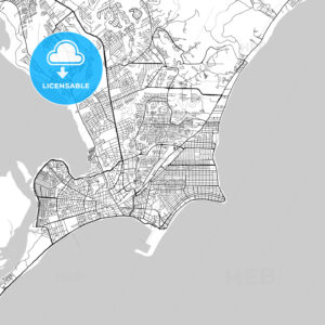 Maceió, Alagoas, Downtown Vector Map - HEBSTREITS