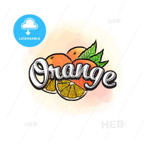 Orange colorful label sign - HEBSTREITS