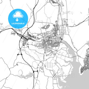 울산광역시 Ulsan City Map, Light - HEBSTREITS