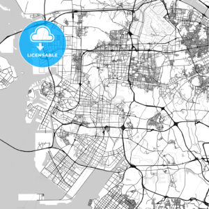 인천광역시 Incheon City Map, Light - HEBSTREITS