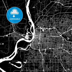 Area map of Memphis, USA - HEBSTREITS