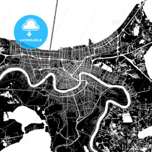 Area map of New Orleans, USA - HEBSTREITS