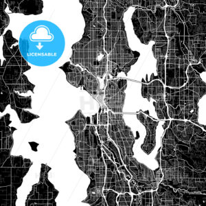Area map of Seattle, USA - HEBSTREITS