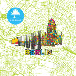 Berlin Travel Art Map