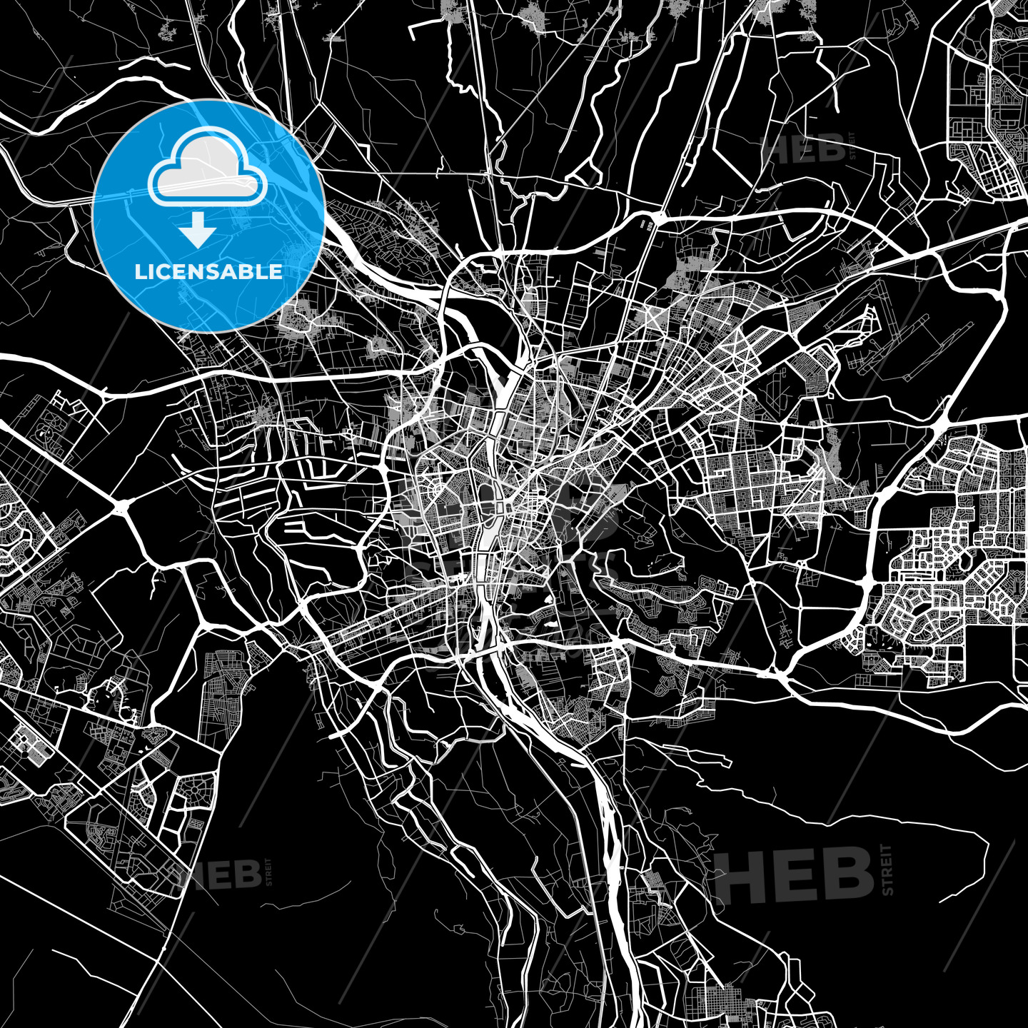 Area map of Cairo, Egypt Cairo Map on