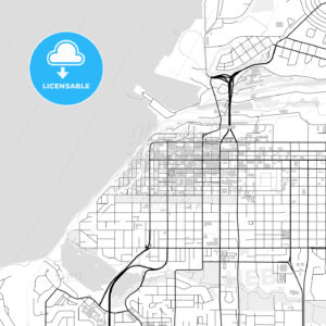 Downtown map of Anchorage, USA - HEBSTREITS
