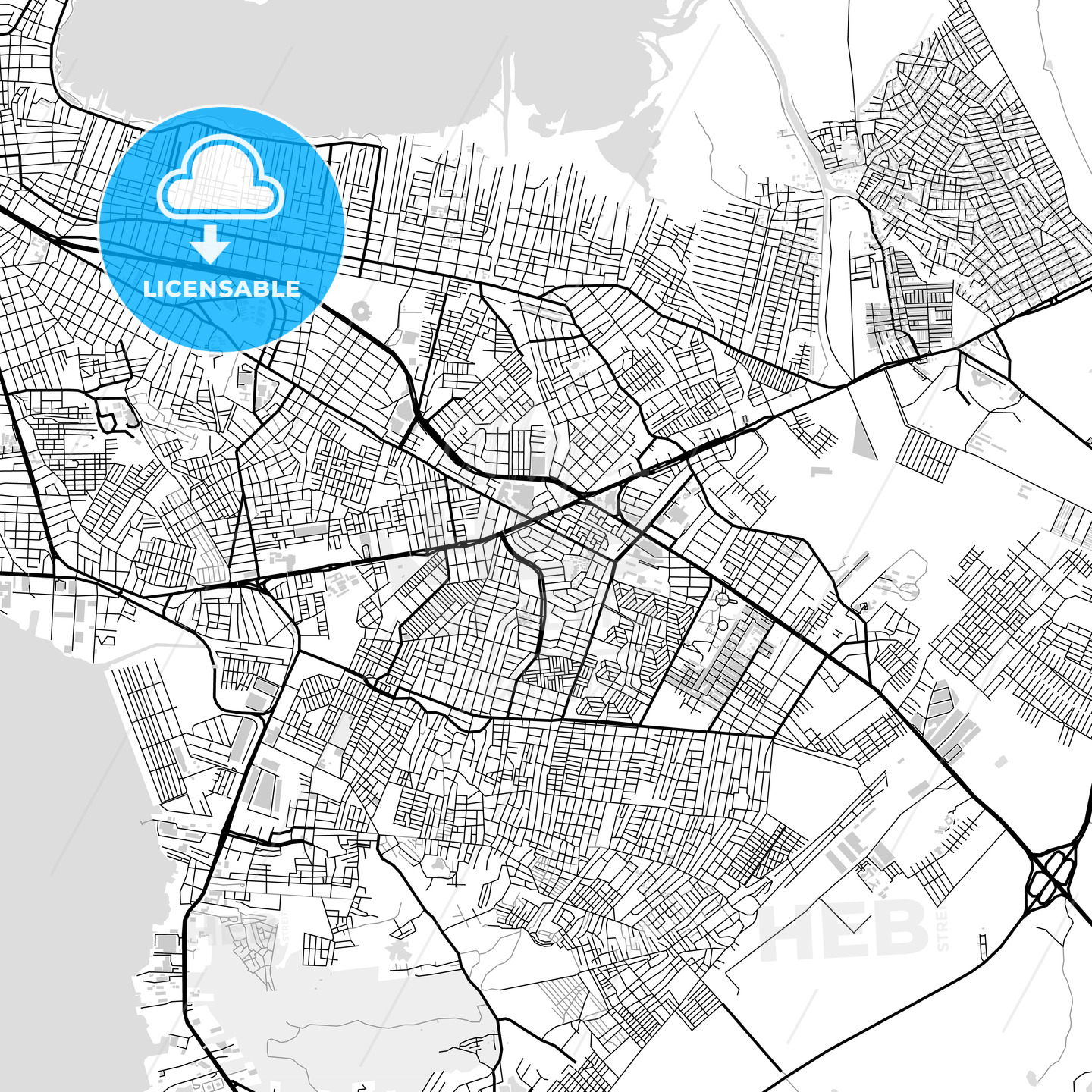 Downtown map of Cartagena, Spain - HEBSTREITS