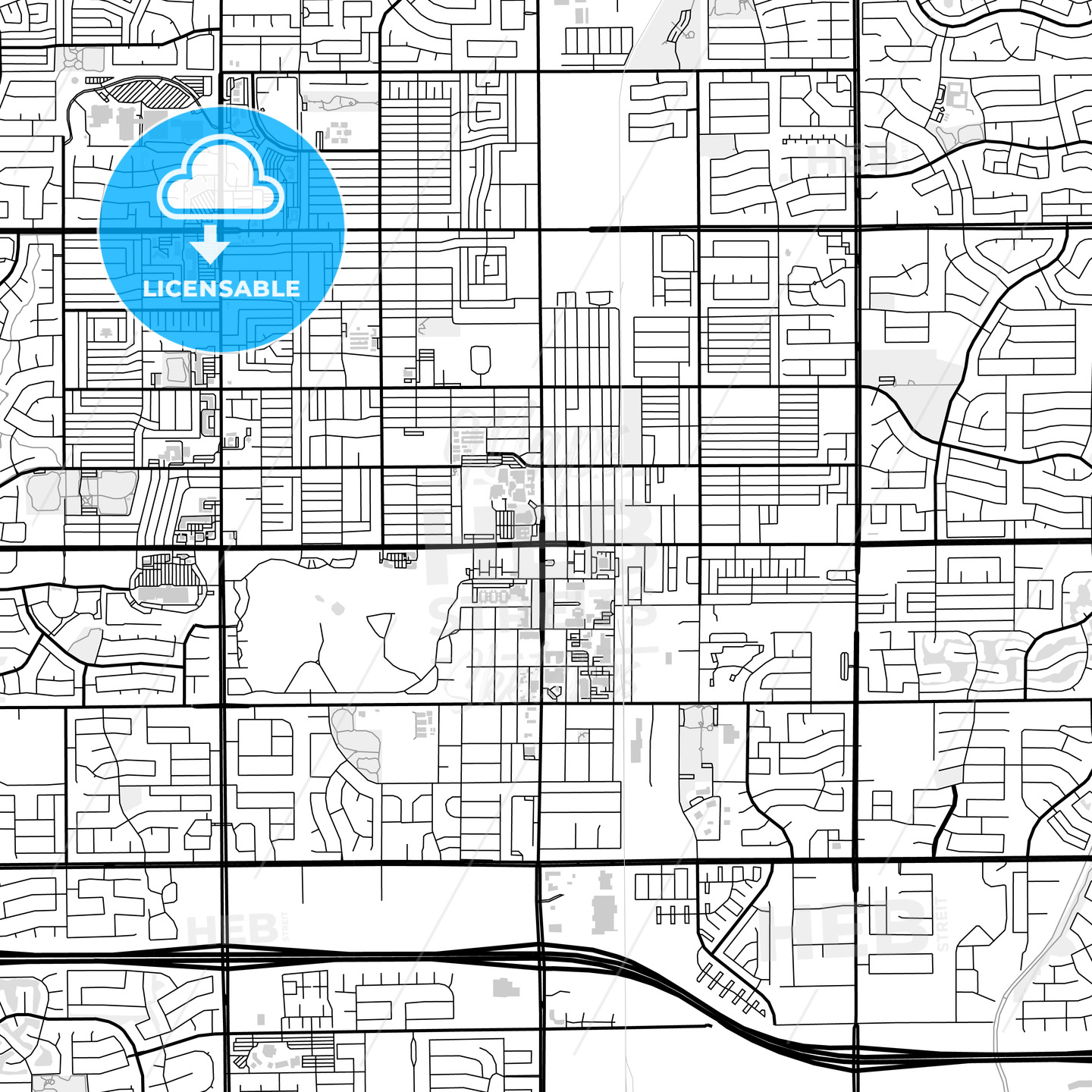 Downtown map of Chandler, USA - HEBSTREITS