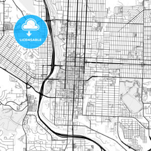 Downtown map of Colorado Springs, USA - HEBSTREITS