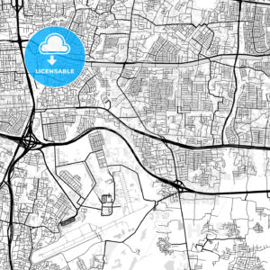 Downtown map of East Jakarta, Indonesia, Indonesia - HEBSTREITS