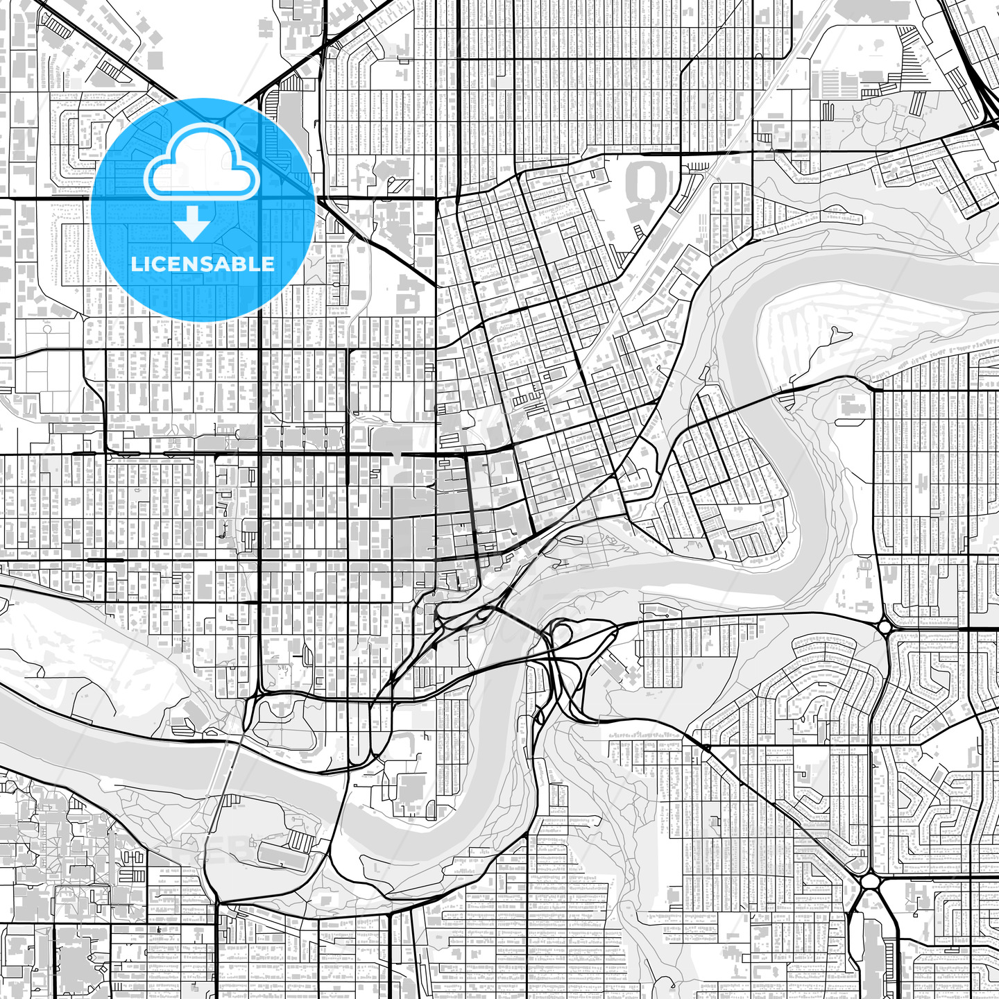 Downtown Map Of Edmonton Canada Hebstreits