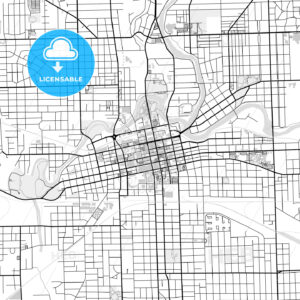 Downtown map of Fort Wayne, USA - HEBSTREITS