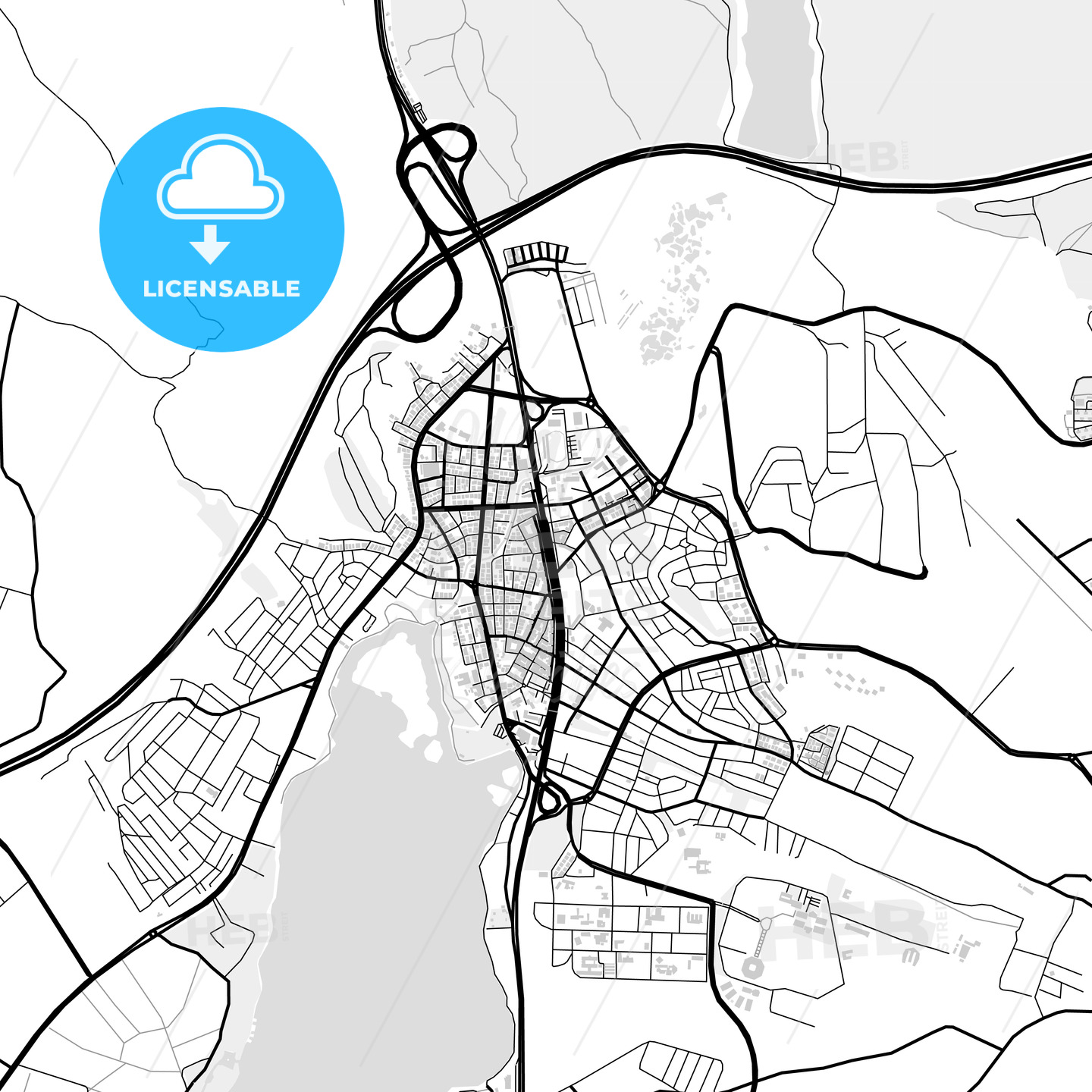 Downtown map of Gölbaşı, Turkey - HEBSTREITS