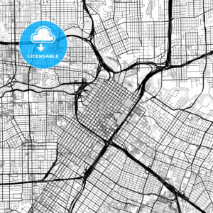 Downtown map of Houston, USA - HEBSTREITS