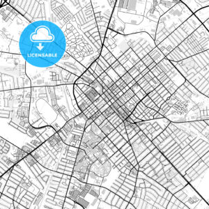 Downtown map of Lexington, USA - HEBSTREITS