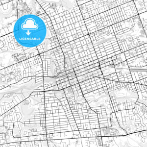 Downtown map of London, Canada - HEBSTREITS