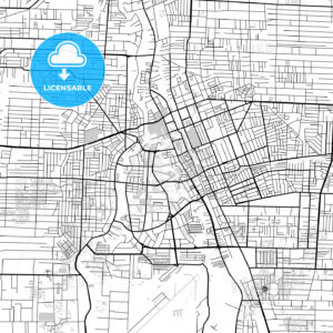 Downtown map of Medan, North Sumatra, Indonesia - HEBSTREITS