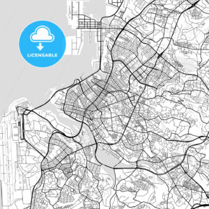 Downtown map of Naha, Japan (那覇市) - HEBSTREITS