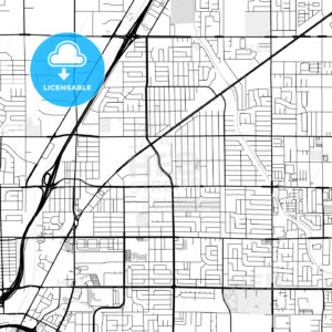Downtown map of North Las Vegas, USA - HEBSTREITS