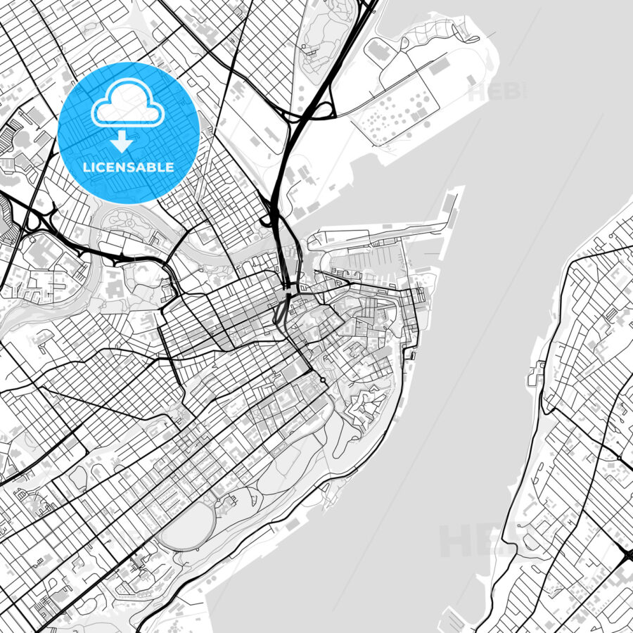 Downtown map of Quebec City, Canada - HEBSTREITS