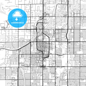 Downtown map of Scottsdale, USA - HEBSTREITS