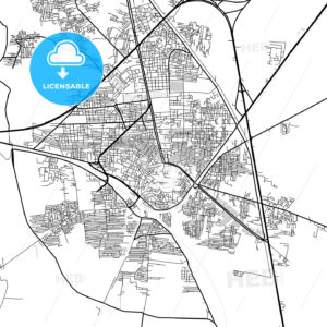 Downtown map of Tanta, Egypt - HEBSTREITS