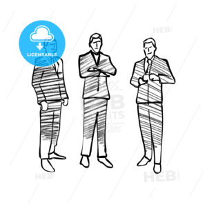 Group of business people drawing - HEBSTREITS