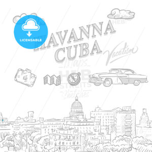 Havanna, Cuba, travel marketing cover - HEBSTREITS