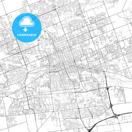 London, Ontario, Canada, Downtown City Map, Light