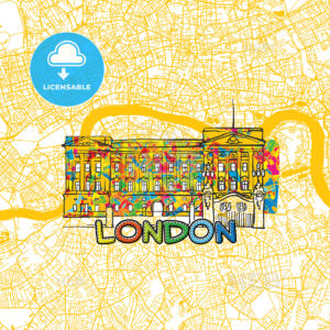London Travel Art Map - HEBSTREITS