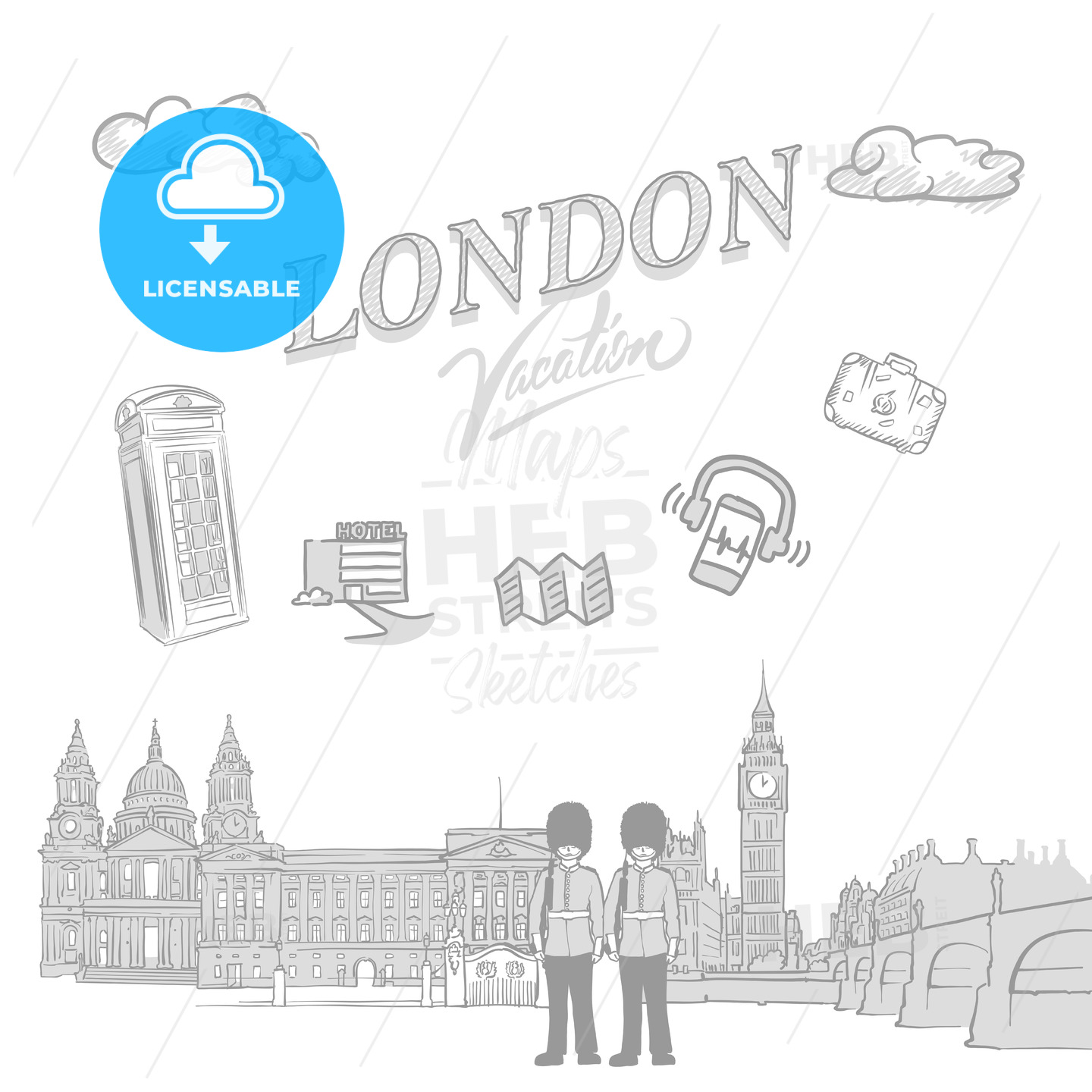 London travel marketing cover - HEBSTREITS