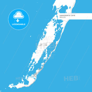 Map of Ambergris Caye Island - HEBSTREITS