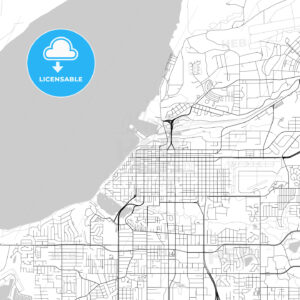 Map of Anchorage, Alaska - HEBSTREITS