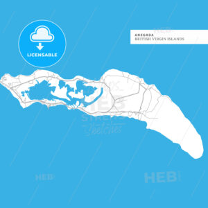 Map of Anegada Island - HEBSTREITS