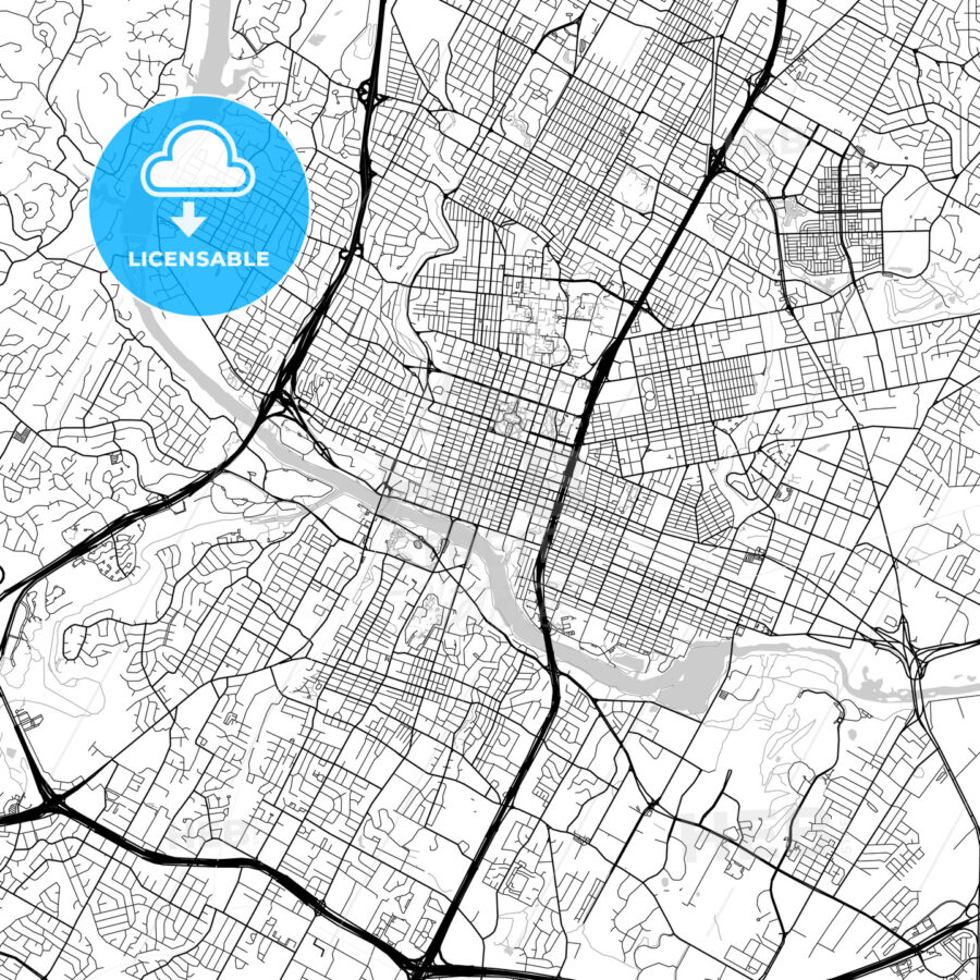 Map of Austin, Texas - HEBSTREITS