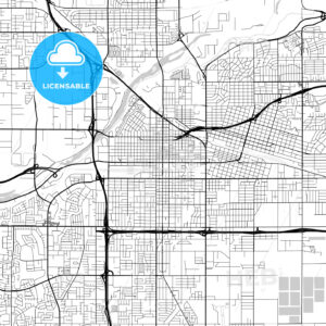 Map of Bakersfield, California - HEBSTREITS