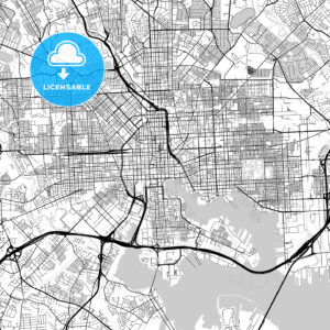 Map of Baltimore, Maryland - HEBSTREITS