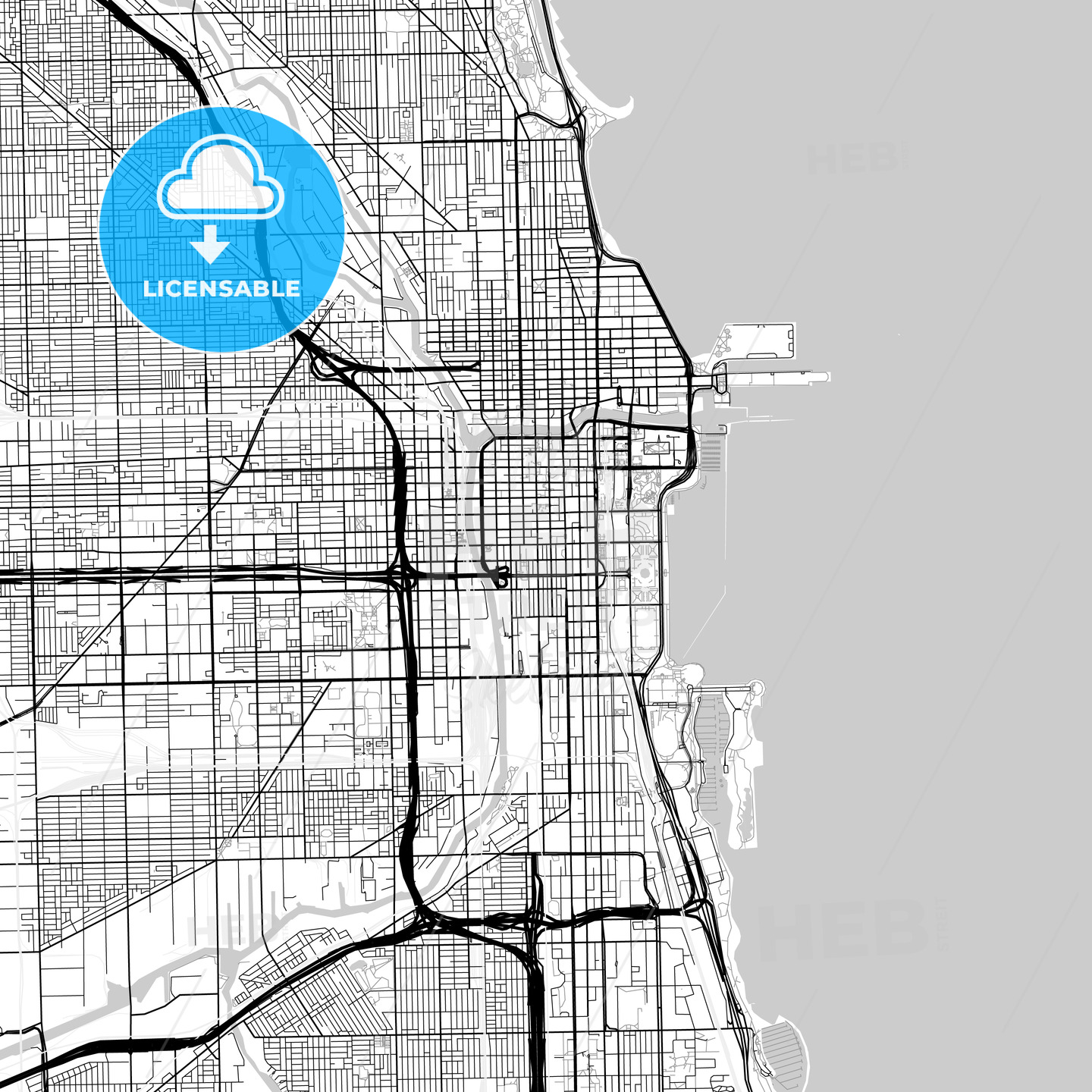 Map of Chicago, Illinois | HEBSTREITS