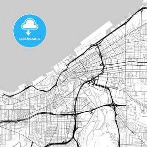 Map of Cleveland, Ohio - HEBSTREITS