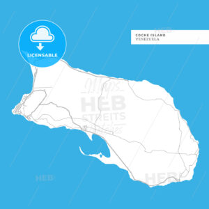 Map of Coche Island - HEBSTREITS