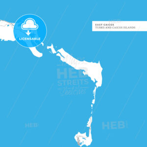 Map of East Caicos Island - HEBSTREITS